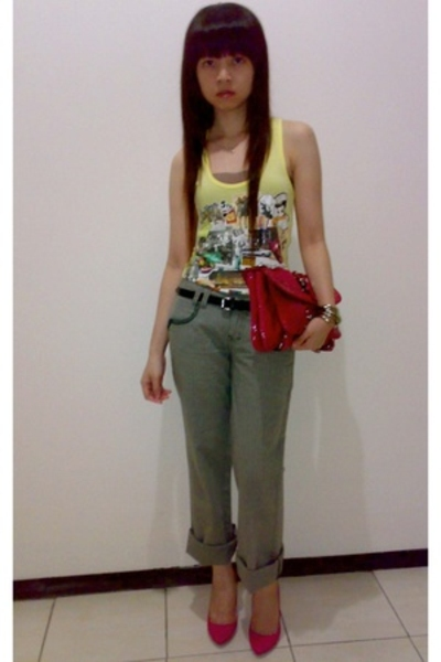 Mango top - Zara pants - Guess purse - Zara