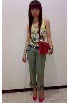 Mango top - Zara pants - Guess purse - Zara
