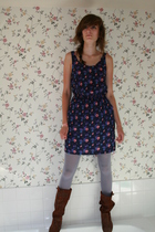 Heritage 1981 dress - American Apparel tights - Urban Outfitters boots