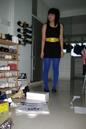 dress - belt - tights - shoes