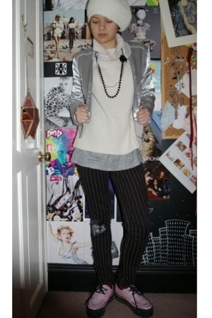 mk one jacket - H&M hat - TUK shoes