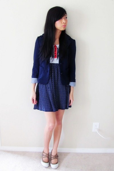 blazer - H&M dress - Spring shorts
