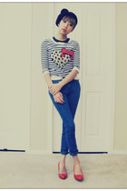 H&M sweater - Aldo shoes - Forever21 jeans