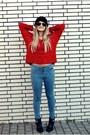 Red-lindex-jumper-black-akira-boots-sky-blue-just-femme-jeans