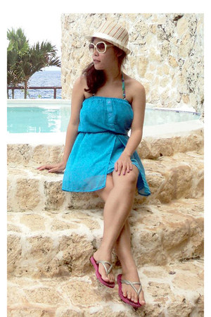 sky blue cover up dress