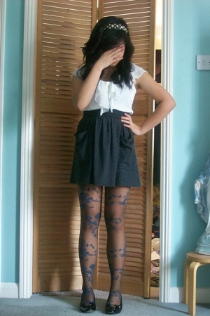 River Island - Primark blouse - aa skirt - Accessorize tights - Salvatore Ferrag