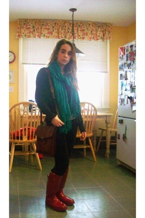 H&M sweater - Xanaka shirt - talbots boots - CaGi Pellettere purse