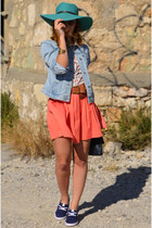 Bershka skirt - Zara jacket - vintage bag