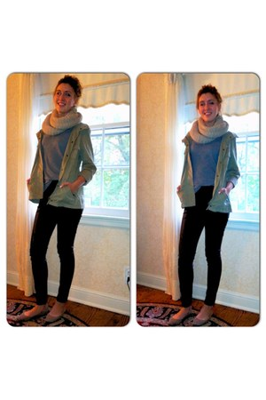 leather Divided pants - Lauren Conrad jacket - hand-knit My Own scarf