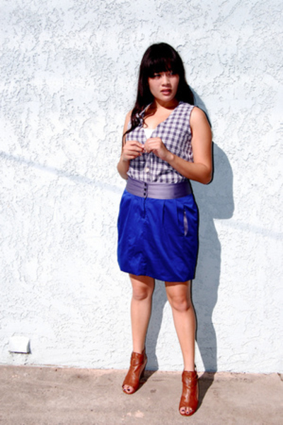 Richard Chai for Target skirt - thrifted shirt - Bakers shoes