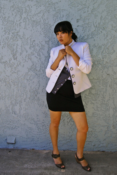 WhiteHouseBlackMarket blazer - American Apparel vest - Old Navy skirt - payless 