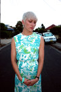 White-clutch-vintage-bag-aquamarine-floral-summer-vintage-dress