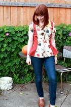 peplum Manic Pop blouse