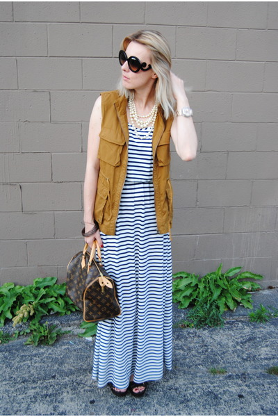 white Marshalls dress - tawny JCrew jacket