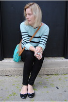 aquamarine JCrew sweater