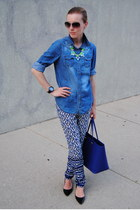 blue H&M shirt - blue Forever 21 pants