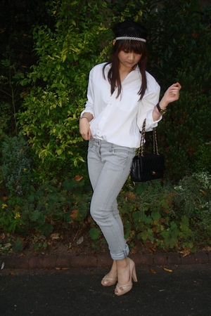 Marks and Spencers shirt - River Island jeans - Chanel purse - Oasis shoes - Acc