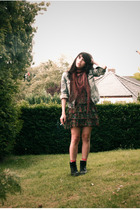 Zara jacket - second hand scarf - H&M dress - Dr Martens boots