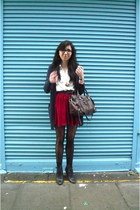 American Apparel skirt - H&M cardigan - vintage blouse - balenciaga bag