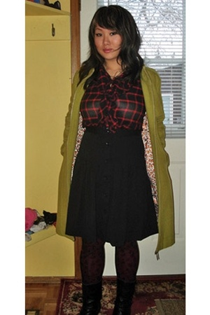 luxuo coat - Gap blouse - Gap skirt - boots