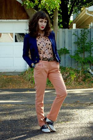 polka dot unknown blouse - romwe pants