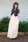 Eggshell-vintage-floral-handmade-skirt