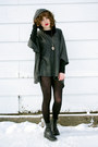 Black-vintage-wedge-donald-j-pliner-boots-charcoal-gray-poncho-forever-21-coat