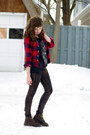 Guess-shirt-flannel-lands-end-shirt-doc-martens-boots
