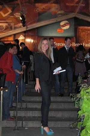 Prada shoes - Zara blazer - BCBG blouse