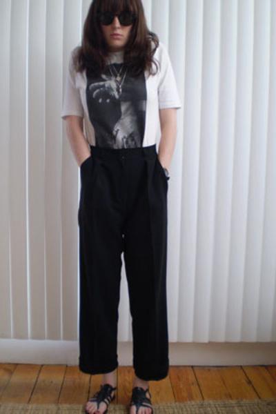 Undercoverism t-shirt - vintage pants - no-name shoes - LANCTOT sunglasses