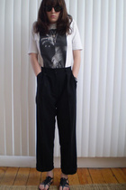 Undercoverism t-shirt - vintage pants - no-name shoes - LANCTOT sunglasses
