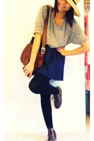 blue floral Forever 21 skirt