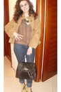 Camel-trafori-coat-camaieu-jeans-dark-brown-martissima-bag-brown-made-by-m