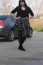 Black-mossimo-cardigan-black-forever21-shirt-forever21-skirt-black-forever