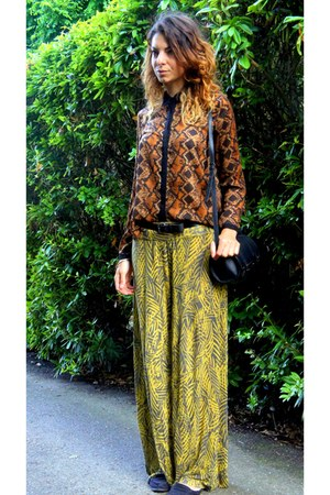 Zara bag - River Island pants - Zara blouse