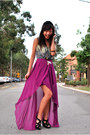 Magenta-waterfall-tulip-ally-skirt-black-love-bonito-wedges-teal-supre-top