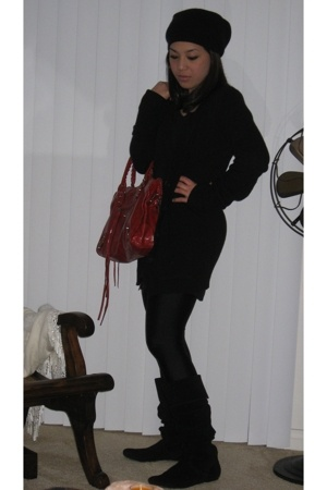 Marc Jacobs hat - dress - Zara sweater - random from Saks tights - Steve Madden