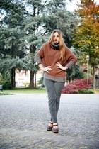 tawny Incotex cardigan - olive green Zanone pants