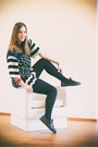 navy aimo richly jacket - blue aimo richly skirt - navy Superga sneakers