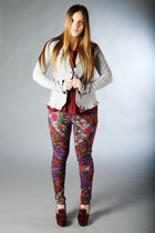 red gazel shirt - amethyst desigual pants