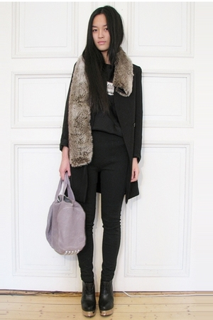 acne boots - Alexander Wang purse - Ebay necklace - H&M jacket