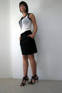 Mangong-top-black-jacob-skirt-black-target-shoes-black-h-m-necklace
