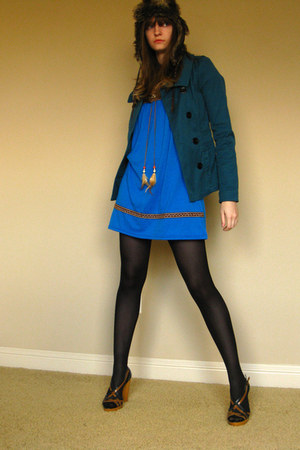 Ebay dress - H&M coat - Gap hat - Forever 21 heels