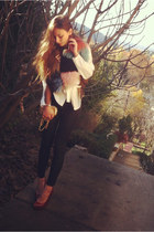 River Island scarf - Hussein Chalayan jacket - H&M bag - H&M pants