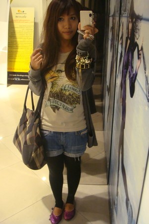 forever 21 - t-shirt - shorts - leggings - shoes - vivienne westwood accessories