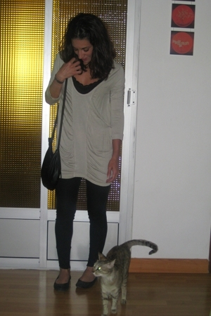 Bershka jeans - Zara dress - H&M purse