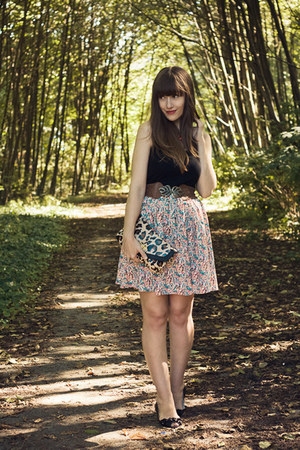 modcloth skirt - Aldo purse - modcloth belt - H&M top