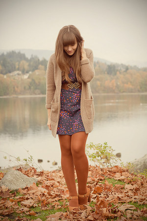 H&amp;M cardigan - Jeffrey Campbell shoes - asos dress - asos tights