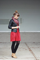 Old Navy boots - Five Bamboo dress - Forever 21 jacket