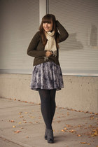 thrifted vintage sweater - Jeffrey Campbell shoes - modcloth skirt